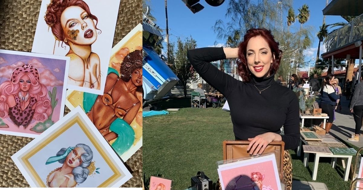 Downtown Las Vegas Artist Paints Vivacious Vintage Visions, Off The Strip