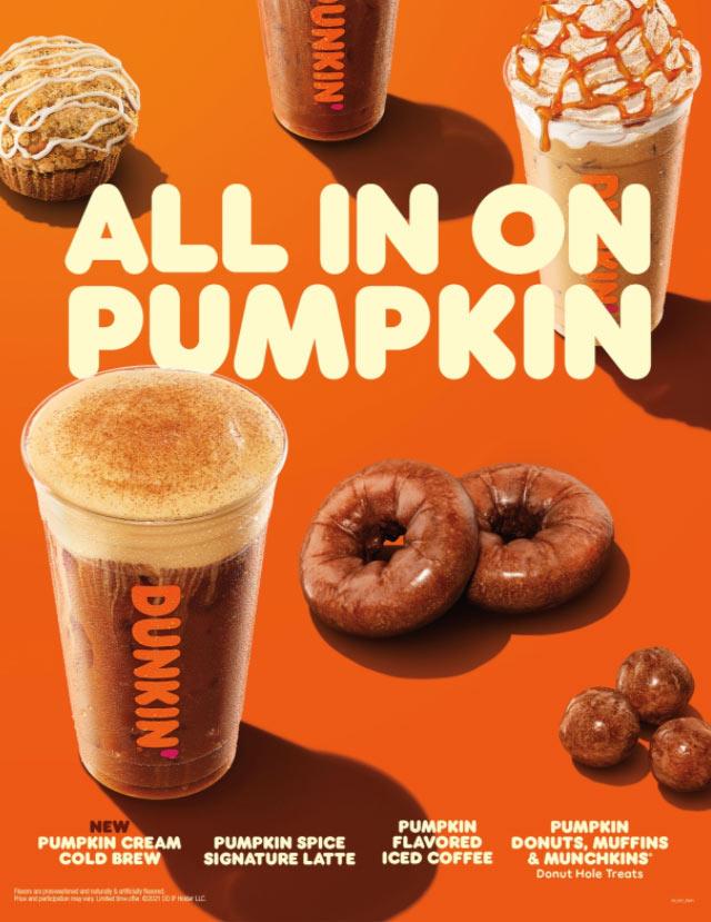 Dunkin' Donuts Fall Menu