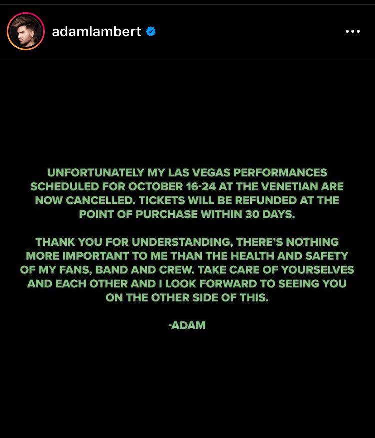 Adam Lambert The Venetian