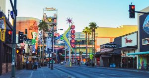 Street view off the main strip in Las Vegas