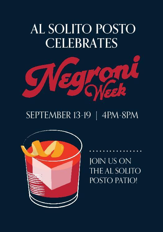 Negroni Week at Al Solito Posto