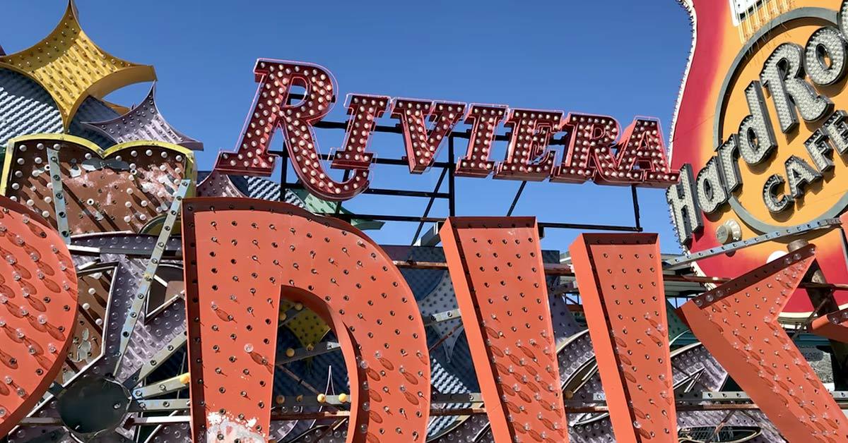 Signs on display at the Neon Boneyard in Las Vegas
