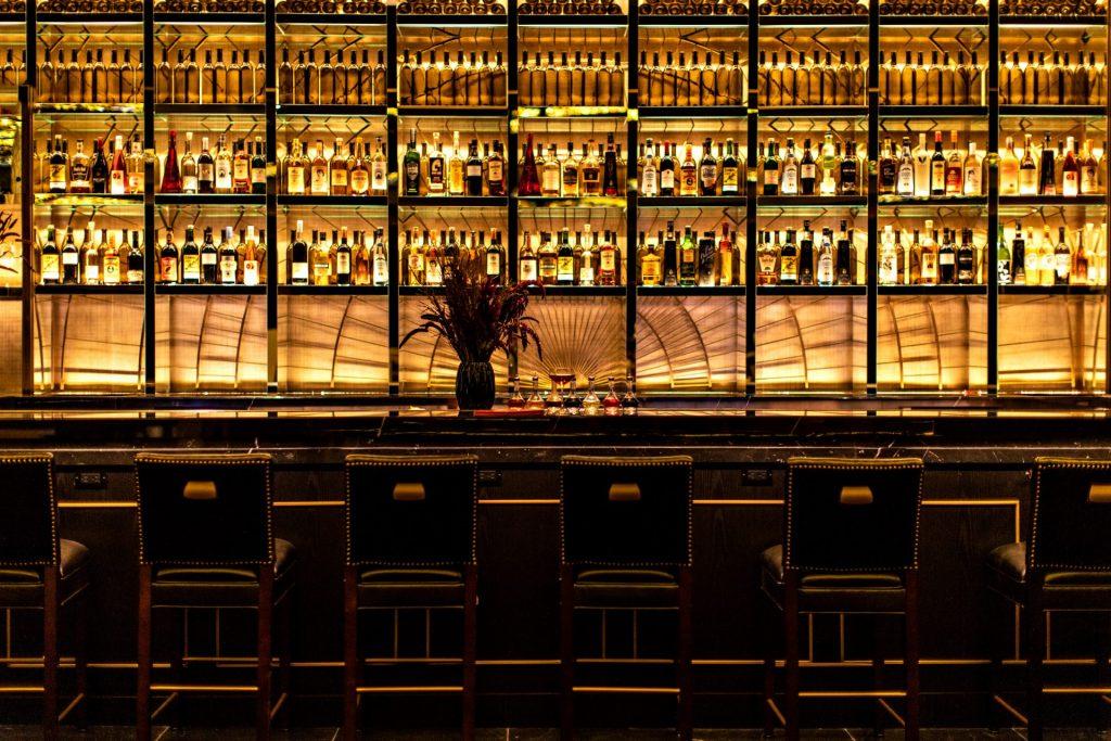 Interior cocktail bar at NoMad Las Vegas