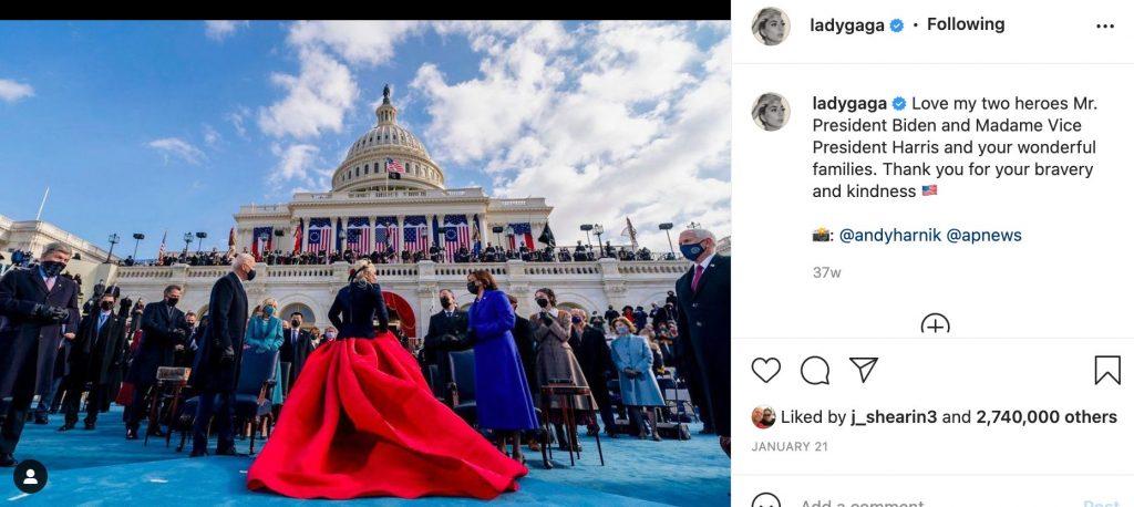 Lady Gaga Biden Harris Inauguration