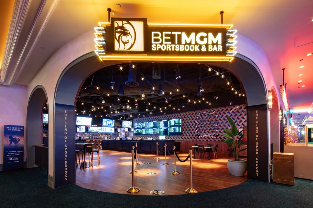 BetMGM Sportsbook & Bar inside Park MGM.